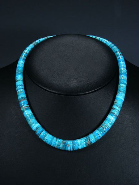 Native American Santo Domingo Turquoise Necklace