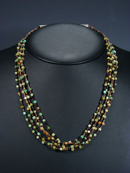 Native American Turquoise and Heishi Necklace