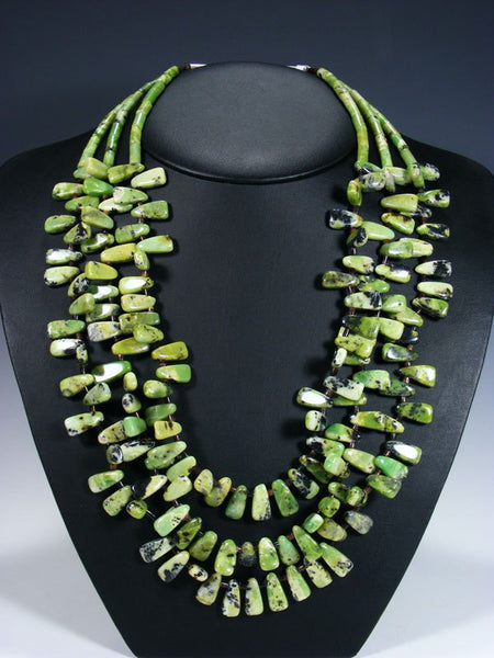 Santo Domingo Serpentine Triple Strand Necklace