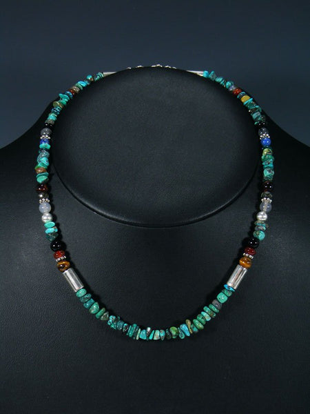 "18"" Turquoise Single Strand Beaded Necklace"
