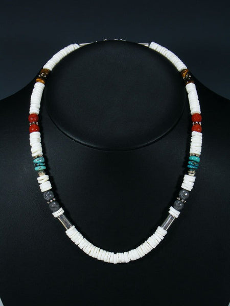 "White Marble 20"" Single Strand Beaded Necklace"