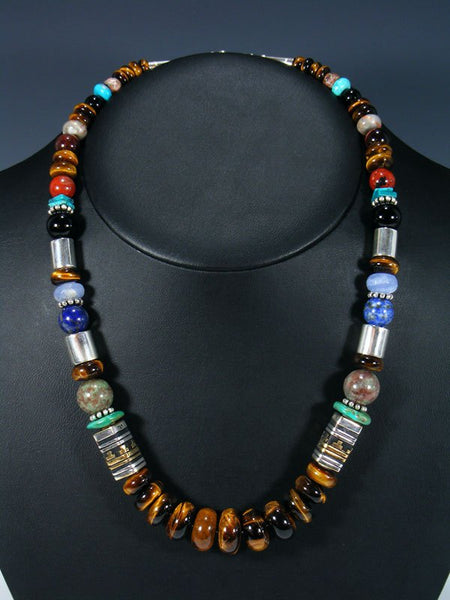 "Tiger Eye 21"" Single Strand Beaded Necklace"