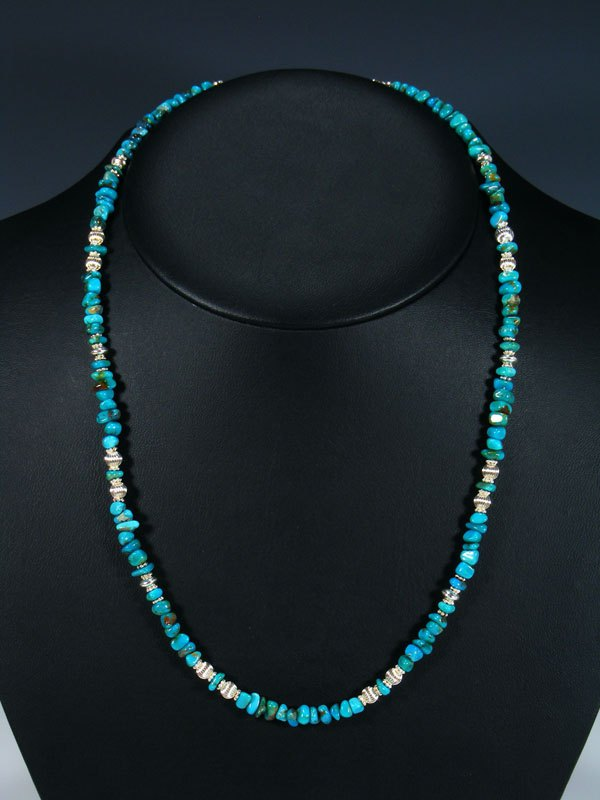 Native American Turquoise Beaded Necklace