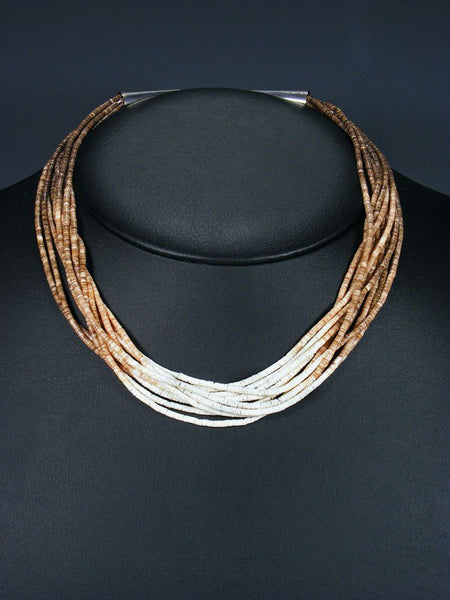 Native American Santo Domingo 10 Strand Heishi Choker Necklace