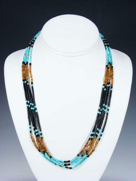 Native American Santo Domingo 5 Strand Necklace