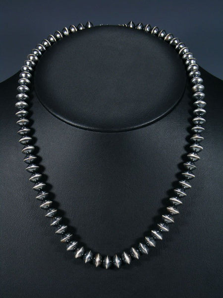 Native American Sterling Silver Navajo Pearl Bead Necklace