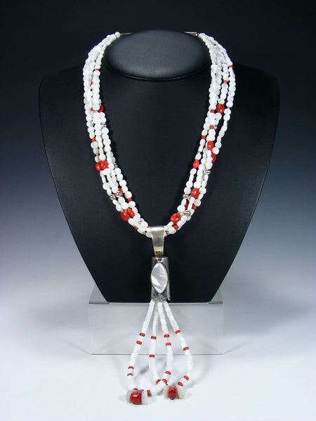 Native American Mother of Pearl Jocla Necklace