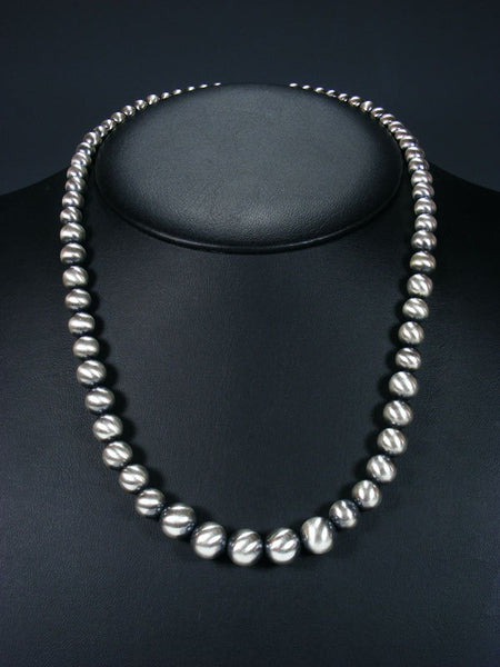 Navajo Pearl Sterling Silver Bead Necklace