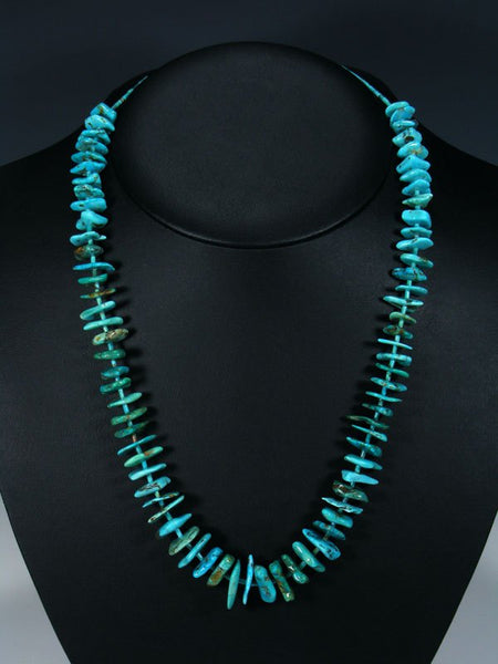 "23"" Native American Indian Jewelry Single Strand Turquoise Necklace"