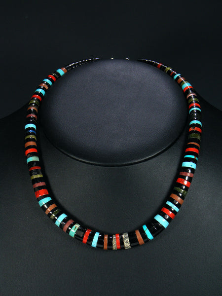 Native American Indian Jet and Turquoise Necklace
