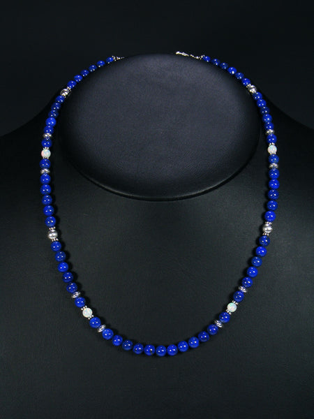 Native American Lapis and Opal Necklace