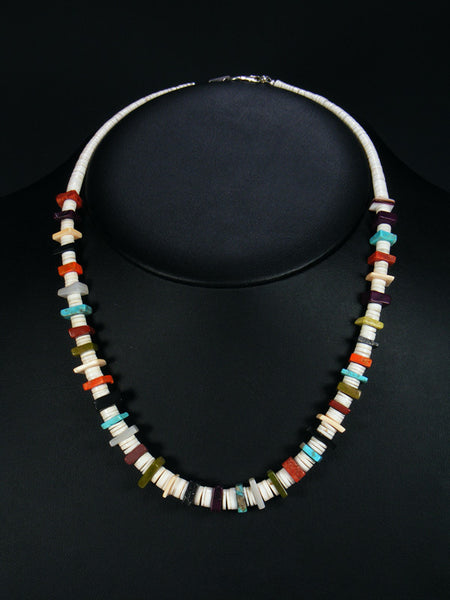 Native American Indian Santo Domingo White Shell Necklace