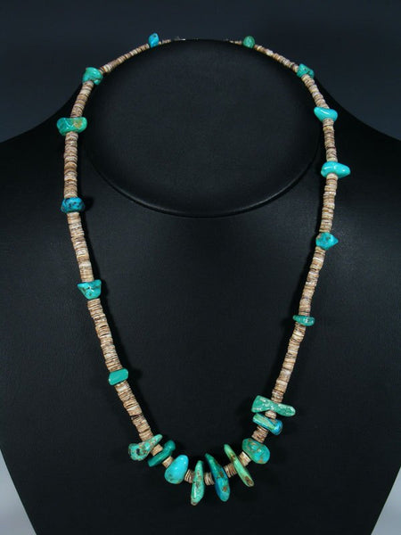 Old Pawn Santo Domingo Turquoise Nugget Necklace