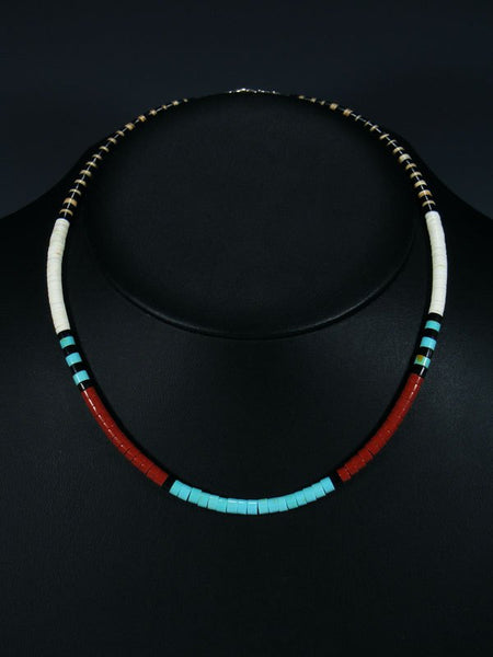 Native American Santo Domingo Shell Choker Necklace