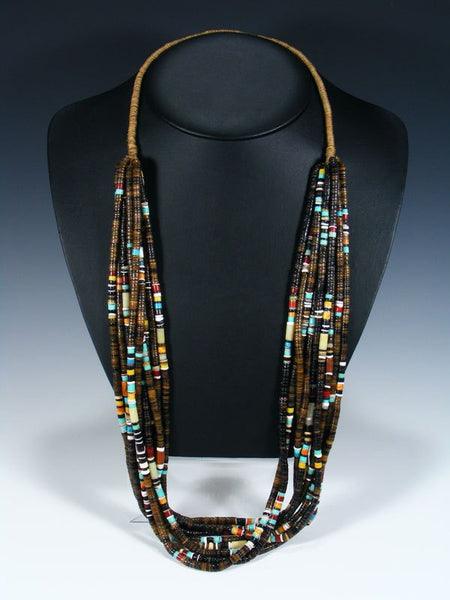 Santo Domingo Ten Strand Penn Shell Heishi Necklace