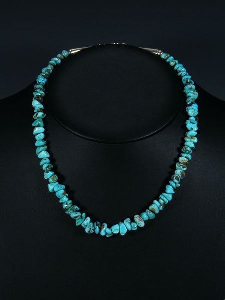 Native American Turquoise Nugget Single Strand Necklace