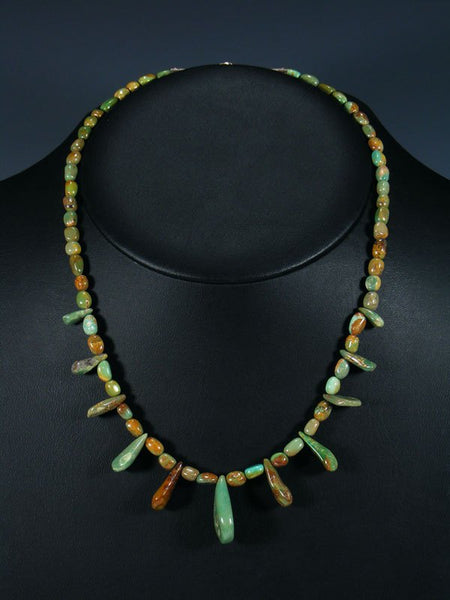 Native American Indian Jewelry Turquoise Tear Drops Necklace