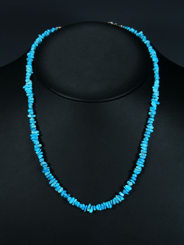 Native American Indian Single Strand Turquoise Beaded Necklace