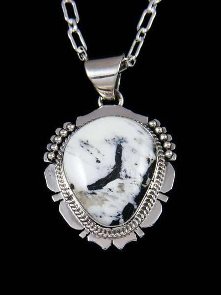 Native American Indian Jewelry White Buffalo Pendant