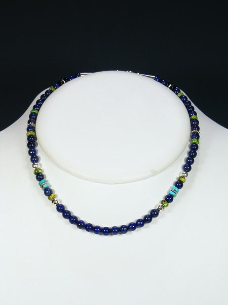 "16"" Lapis Single Strand Necklace"