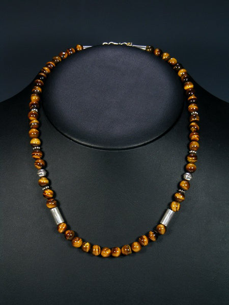 "Tiger Eye 20"" Single Strand Choker Necklace"