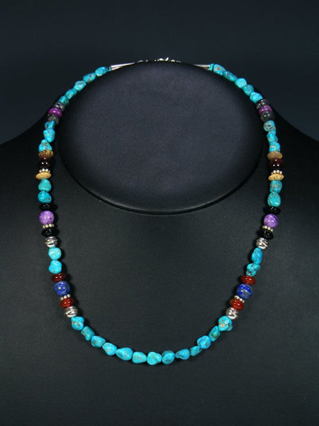 "Turquoise 20"" Single Strand Choker Necklace"