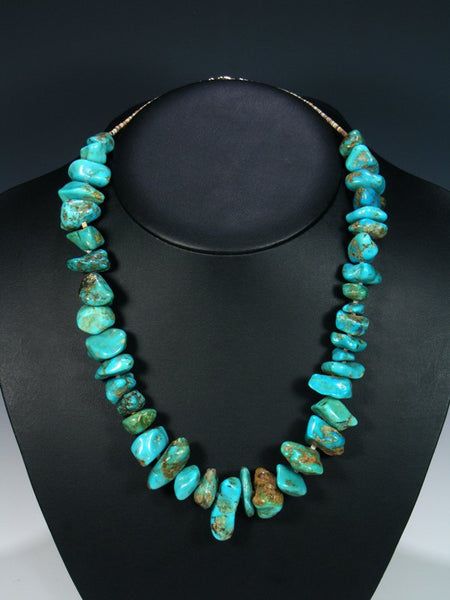 Estate Native American Turquoise Nugget Necklace