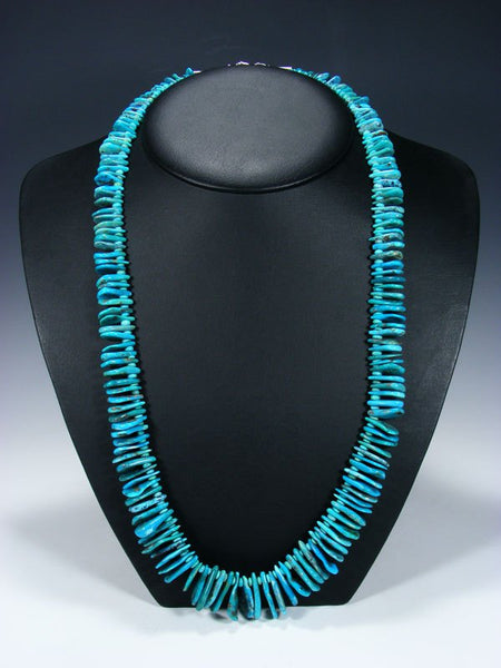 Native American Single Strand Turquoise Tear Drop Necklace