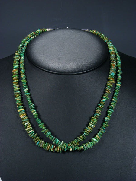 Native American Jewelry Double Strand Chrysocolla Necklace