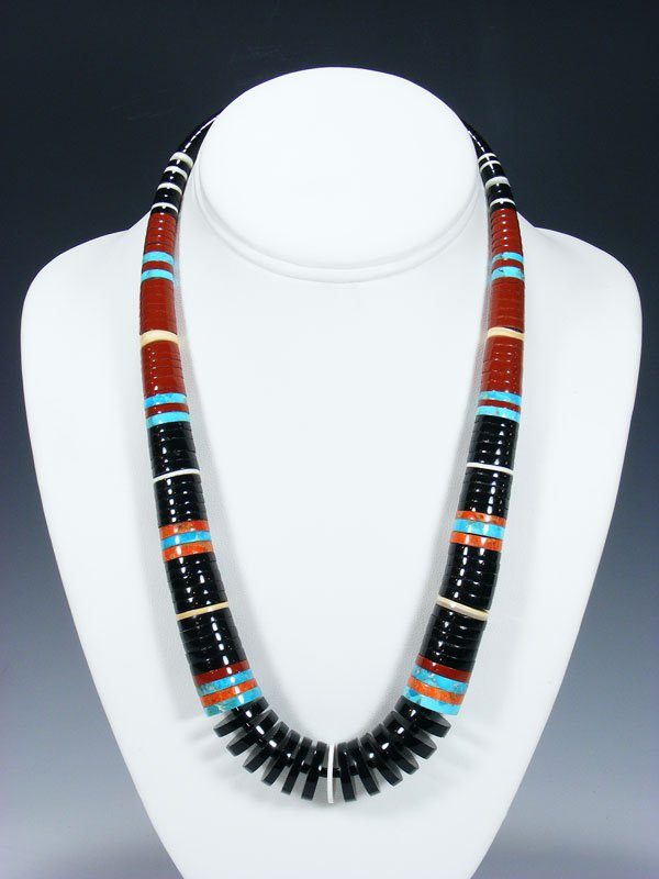 Native American Indian Pipestone Turquoise and Shell Necklace