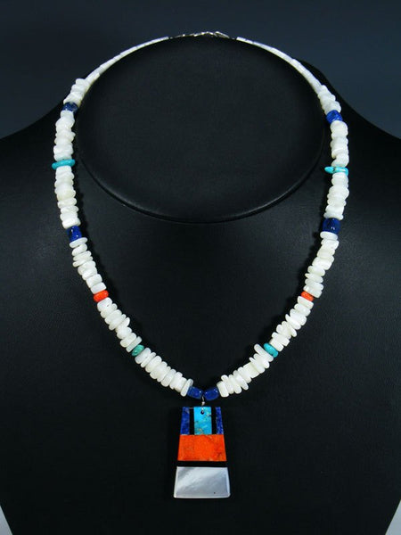Santo Domingo White Shell Mosaic Necklace