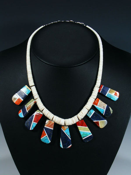 Santo Domingo White Shell Mosaic Necklace Set