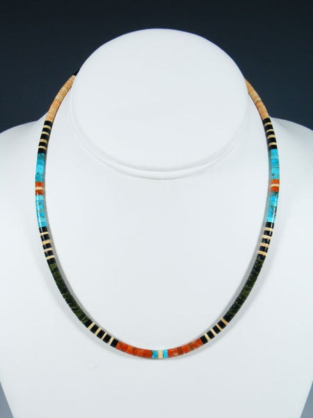 Native American Indian Bead Santo Domingo Necklace