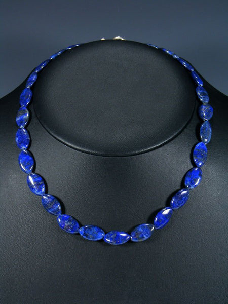 Native American Lapis Beaded Choker Necklace