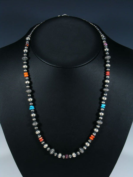 Native American Spiny Oyster and Turquoise Beaded Necklace