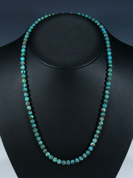 Native American Long Single Strand Turquoise Necklace