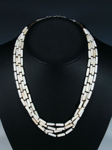 Native American Multi Strand Shell and Mother of Pearl Necklace