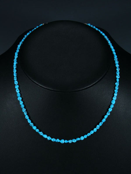 Navajo Turquoise Single Strand Necklace