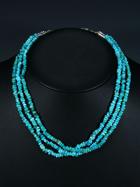 Navajo Three Strand Turquoise Necklace