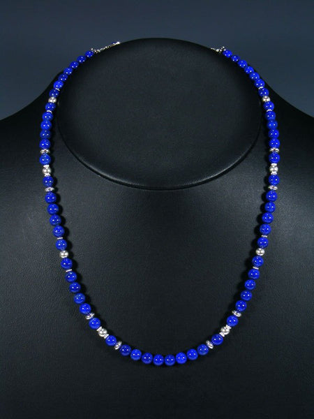 Navajo Blue Lapis and Bead Single Strand Necklace