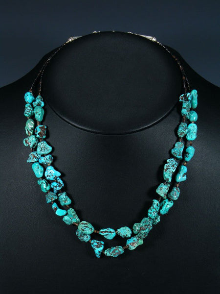 Native American Heishi Turquoise Double Strand Necklace