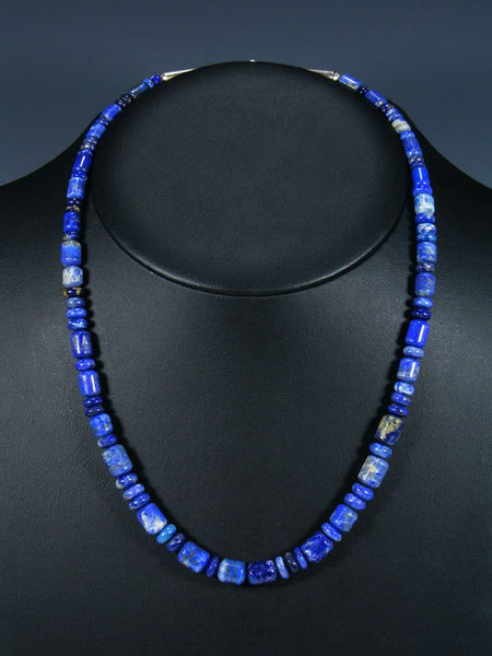 Native American Lapis Beaded Necklace