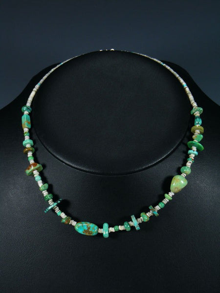 Native American Turquoise & Heishi Choker Necklace