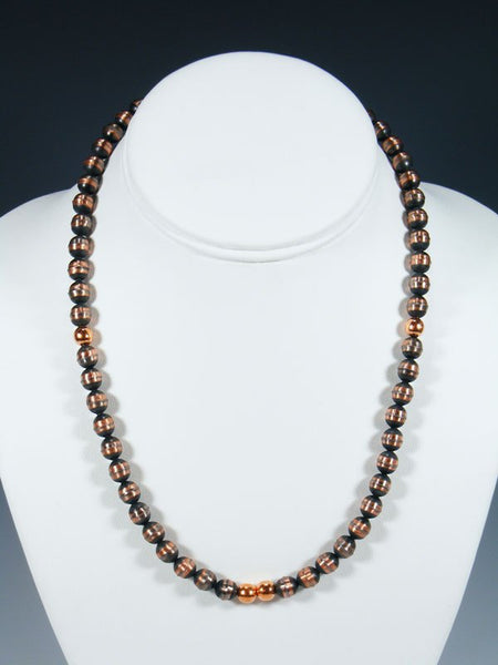 Native American Single Strand Copper Bead Necklace