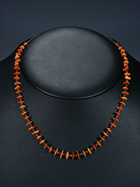 Native American Spiny Oyster Heishi Choker Necklace