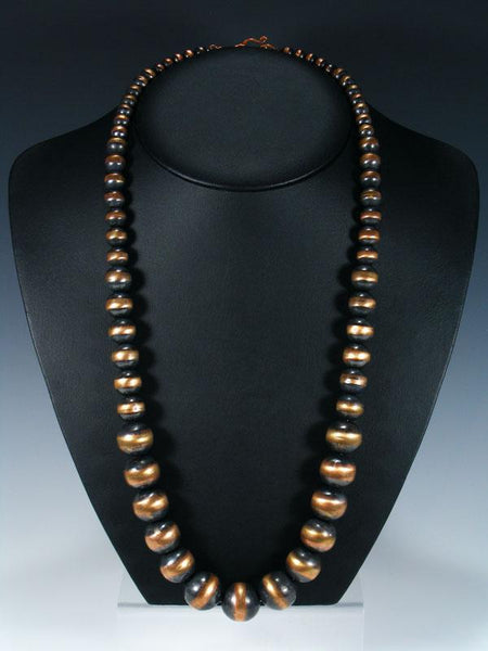 Native American Graduated Copper Bead Necklace