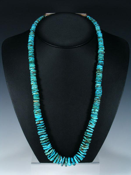 "29"" Native American Indian Jewelry Single Strand Turquoise Necklace"