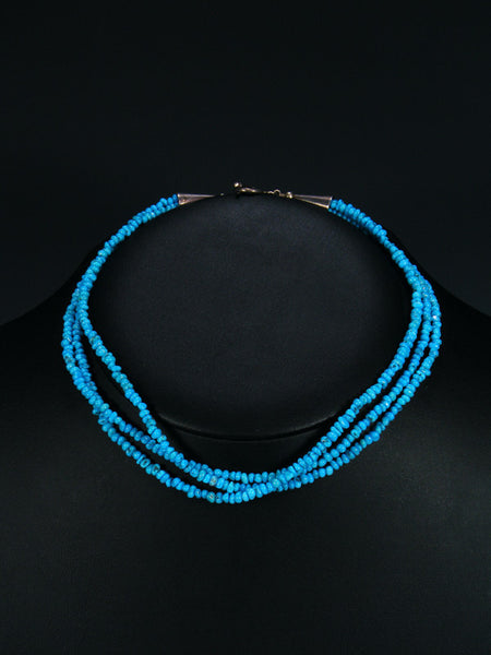 Estate Native American Multi-Strand Turquoise Necklace