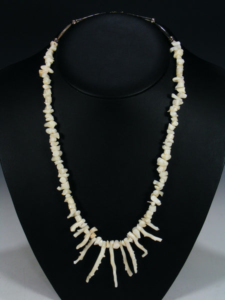 Native American White Coral Necklace