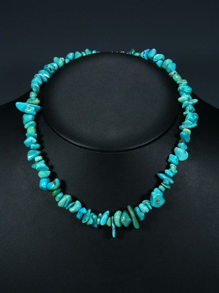 Turquoise Nugget Single Strand Necklace
